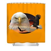 The Bald Eagle 2 Shower Curtain