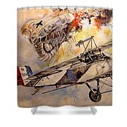 The Balloon Buster Shower Curtain