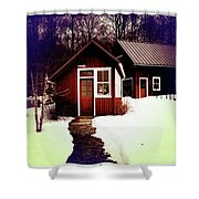 The Bally House Greenhouse Shower Curtain
