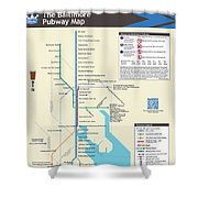 The Baltimore Pubway Map Shower Curtain