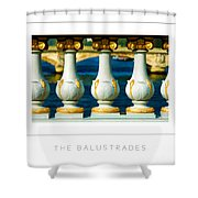 The Balustrades Poster Shower Curtain