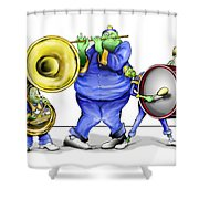 The Band Plays On Shower Curtain