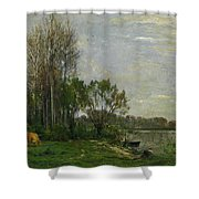 The Banks Of The Oise Shower Curtain