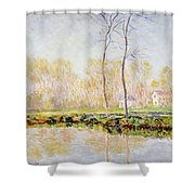 The Banks Of The River Epte At Giverny Shower Curtain
