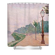 The Banks Of The Seine At Neuilly 1886 Shower Curtain