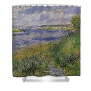 The Banks Of The Seine Champrosay Shower Curtain