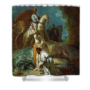 The Baptism Of The Eunuch After Rembrandt Harmenszoon Van Rijn Shower Curtain