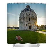 The Baptistery, Piazza Dei Miracoli Shower Curtain