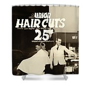 The Barbershop Window Shower Curtain