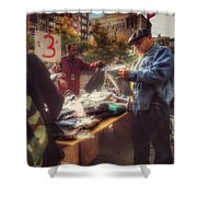 The Bargaining Table - Street Vendors Of New York Shower Curtain