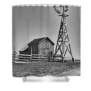 The Barn And Windmill Shower Curtain