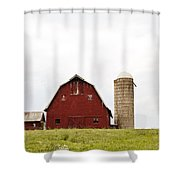 The Barn - Color Shower Curtain