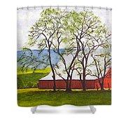 The Barn, 11x14, Oil, '07 Shower Curtain