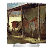 The Barn Of Marechal-ferrant Shower Curtain by Theodore Gericault
