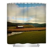 The Barn On Green Acres Shower Curtain