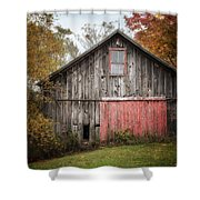 The Barn With The Red Door Shower Curtain