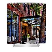 The Barney Mccoy Cafe Shower Curtain