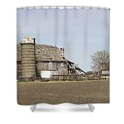 The Barn's Last Season Shower Curtain