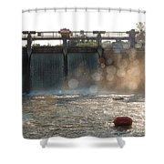 The Barton Lake Dam Shower Curtain