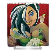 The Barwaitress Shower Curtain