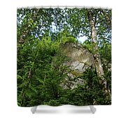 The Base Of Beacon Rock  Shower Curtain