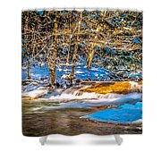The Basin At Franconia Notch Shower Curtain