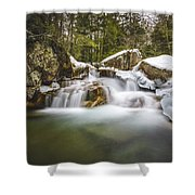 The Basin Cascades Shower Curtain