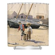 The Basket Of Clams Shower Curtain