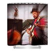 The Bass Player Shower Curtain