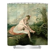 The Bath Of Diana Shower Curtain