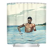 The Bather, 1899 Shower Curtain