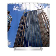 The Batman Building Nashville Tn Shower Curtain