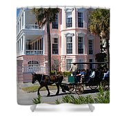 The Battery In Charleston Shower Curtain