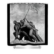 The Battle For Iwo Jima By Todd Krasovetz Shower Curtain