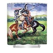 The Battle Of Bannockburn Shower Curtain