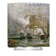 The Battle Of Cape St Vincent Shower Curtain