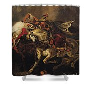 The Battle Of Giaour And Hassan Shower Curtain