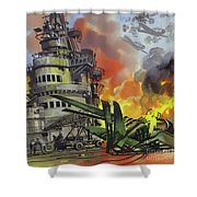 The Battle Of Midway Shower Curtain
