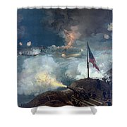 The Battle Of Port Hudson - Civil War Shower Curtain