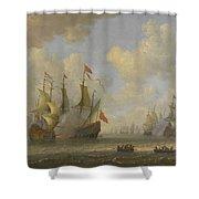 The Battle Of Scheveningen Shower Curtain