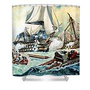 The Battle Of Trafalgar Shower Curtain by English School