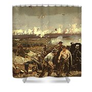 The Battle Of Vilmy Ridge Shower Curtain
