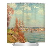 The Bay And The River Shower Curtain by Jean Baptiste Armand Guillaumin
