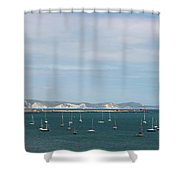 The Bay At Weymouth  Shower Curtain