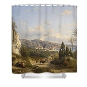 The Bay Of Naple Shower Curtain