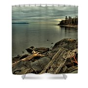 The Bay Of Thunder Shower Curtain