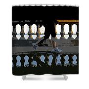The Bayshore Runner Shower Curtain