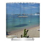 The Beach At Cannes Shower Curtain
