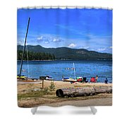 The Beach At Hill's Resort Shower Curtain