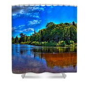 The Beach At Singing Waters Campground Shower Curtain